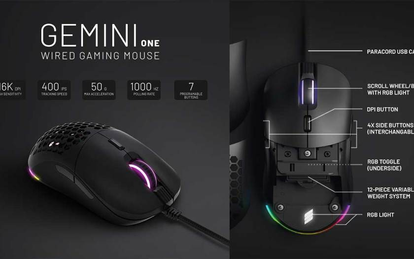 Introducing SuperSolid Gemini One: The Ultimate Customisable Mouse