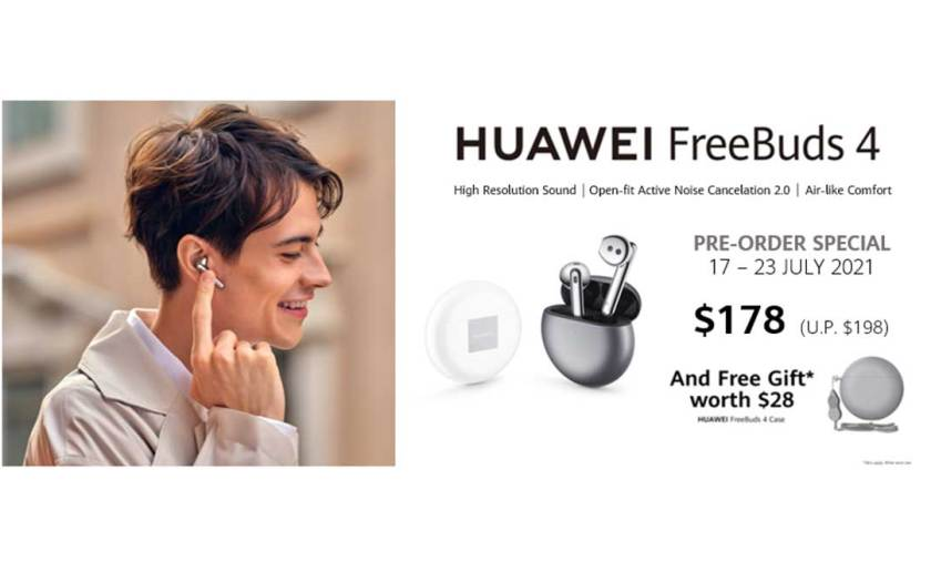 New innovative open-fit earphones HUAWEI FreeBuds 4 with high-res sound launches in Singapore