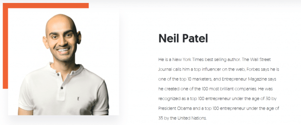 Content marketing genius Neil Patel