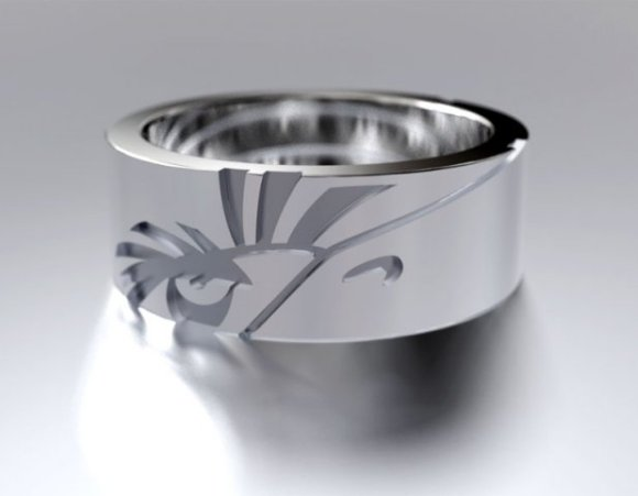 The Mighty Eagle silver ring