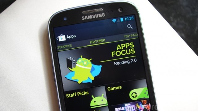 Samsung GS3 Play Store