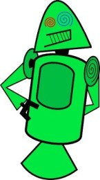 First Android mascots - Green