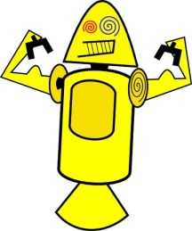 First Android mascots - Yellow