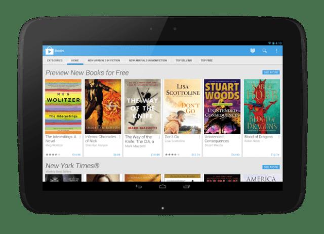 Google Play Books Tablet