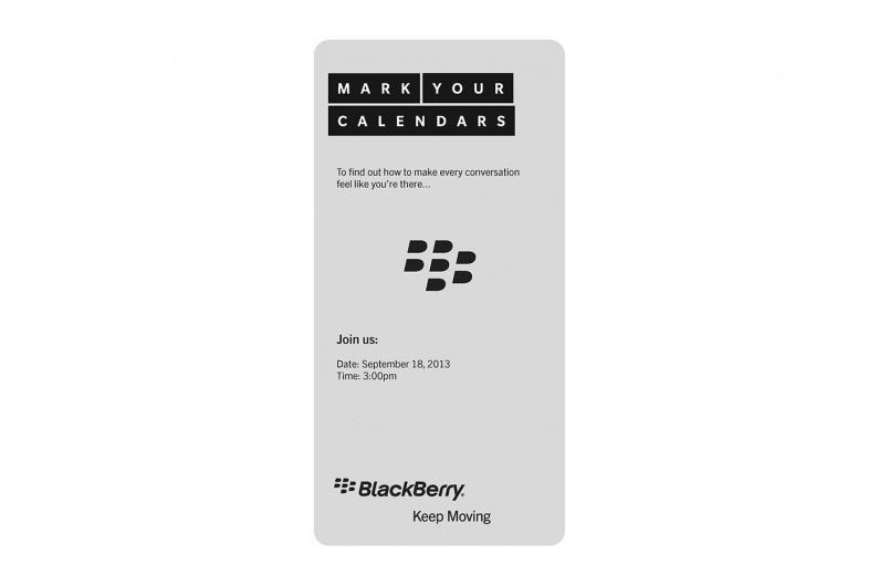 BlackBerry Event 18/9