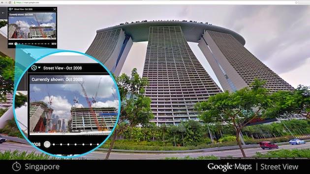 Google Maps time machine