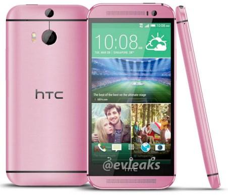 HTC One (M8) Pink leak