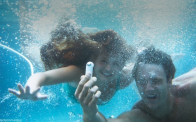 HTC RE underwater