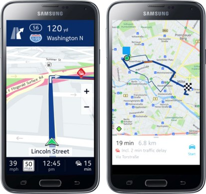 Nokia HERE Maps For Samsung Galaxy Smartphones