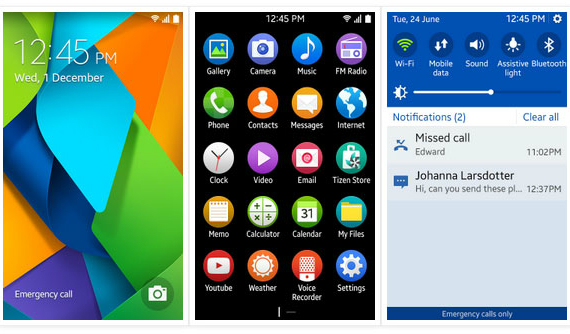Tizen OS 2.3 screenshot leak