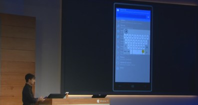 Windows 10 for phones keyboard