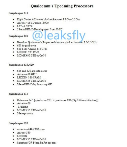 Snapdragon 820 leak