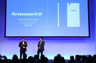 Lenovo smartphone with Windows 10 for Phones