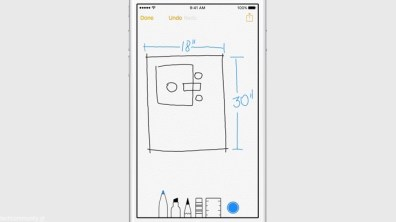 Apple iOS 9 Notes Sketch