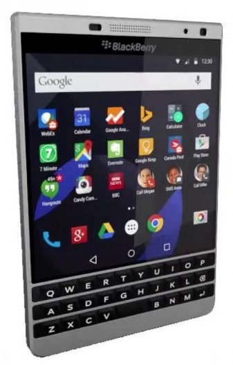BlackBerry Passport Silver Edition with Android leak