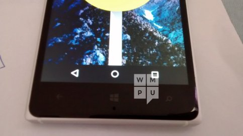 Microsoft Lumia 830 running Android 5 2