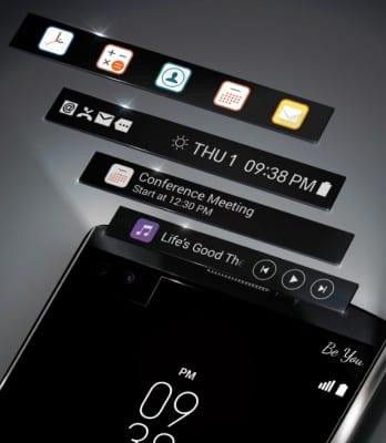 Η δεύτερη οθόνη του LG V10.