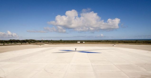 SpaceX Falcon 9 landing site