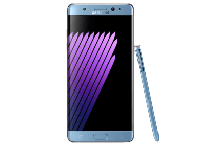 Samsung Galaxy Note7 coral blue