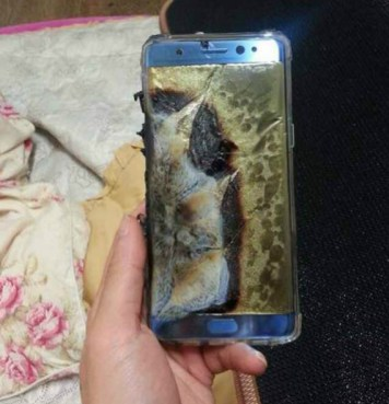 Samsung Galaxy Note7 exploded
