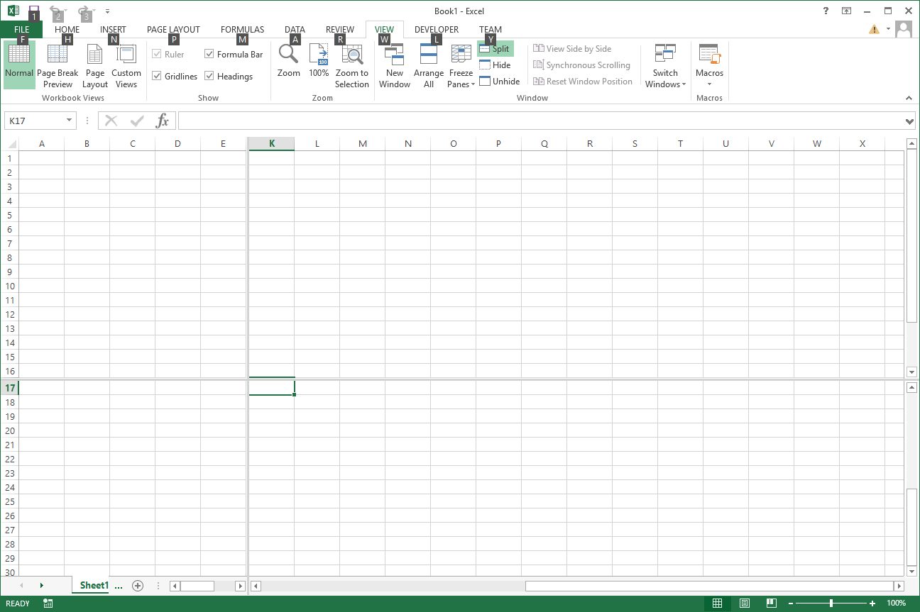 Missing Excel Worksheet Tabs