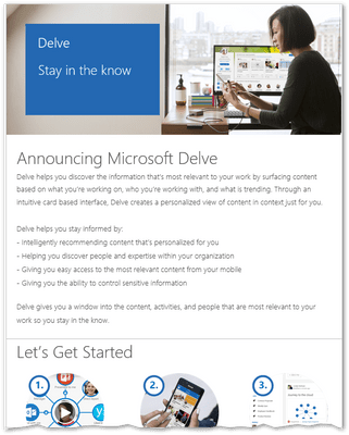 For the latter to happen, the announcement email template you opt for must have a. Announcing Delve Email Template Link Broken On The Technet Article Microsoft Tech Community