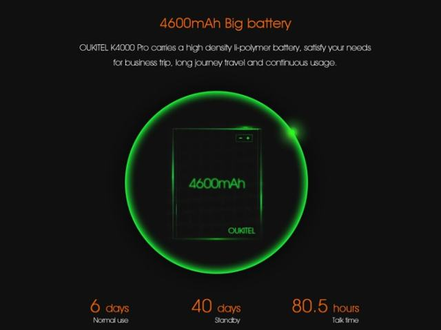 Oukitel K4000 Pro Review Battery
