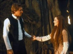 10. Han Solo and Princess Leia, Star Wars saga (1977-) Our poll closed before The Force Awakens was released, but Han Solo and Princess Leia's romance has proved persuasive.