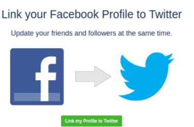 how to post from Facebook to Twitter automatically