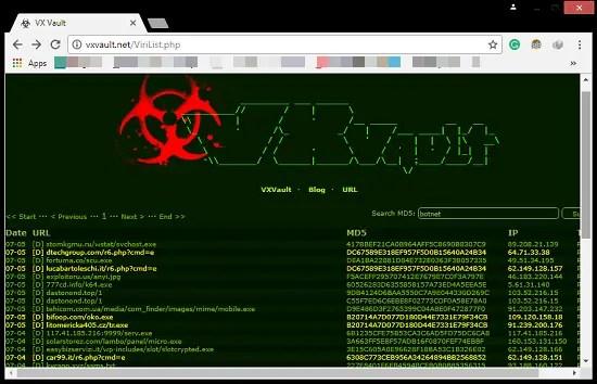 vxvault home page