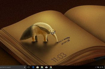Dexclock Lets you Set a Real-time Clock Blended Wallpaper in Windows