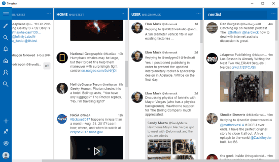 Tweetdeck Alternative and Desktop Client: Tweeten