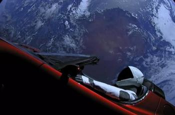 SpaceX launched a Tesla Roadster into space