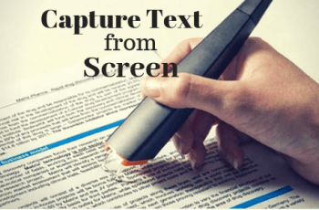 Capture Text from screen