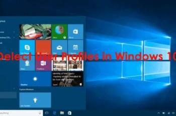 delete user profile in windows 10