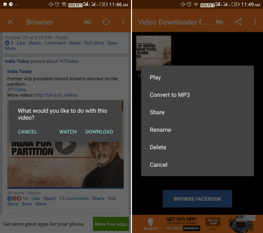 5 Free Facebook Video Downloader App for Android
