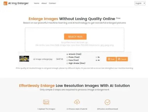 online image enlarger tool