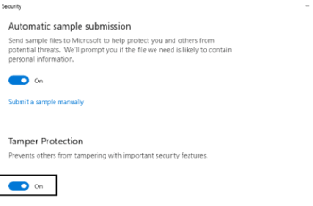 tamper protection windows 10