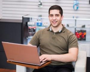 Portrait of the owner of Tech Corner Robert Keefe