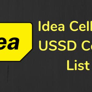 IDEA USSD Code List
