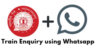Check Train Enquiry using WHatsapp