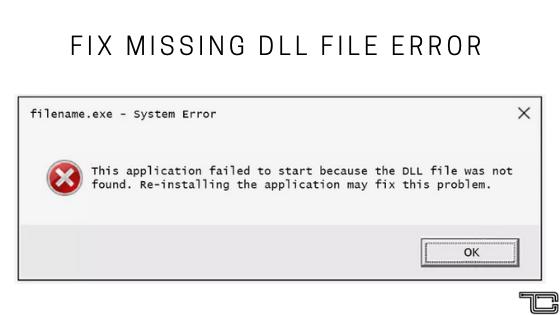 Fix DLL Missing Error
