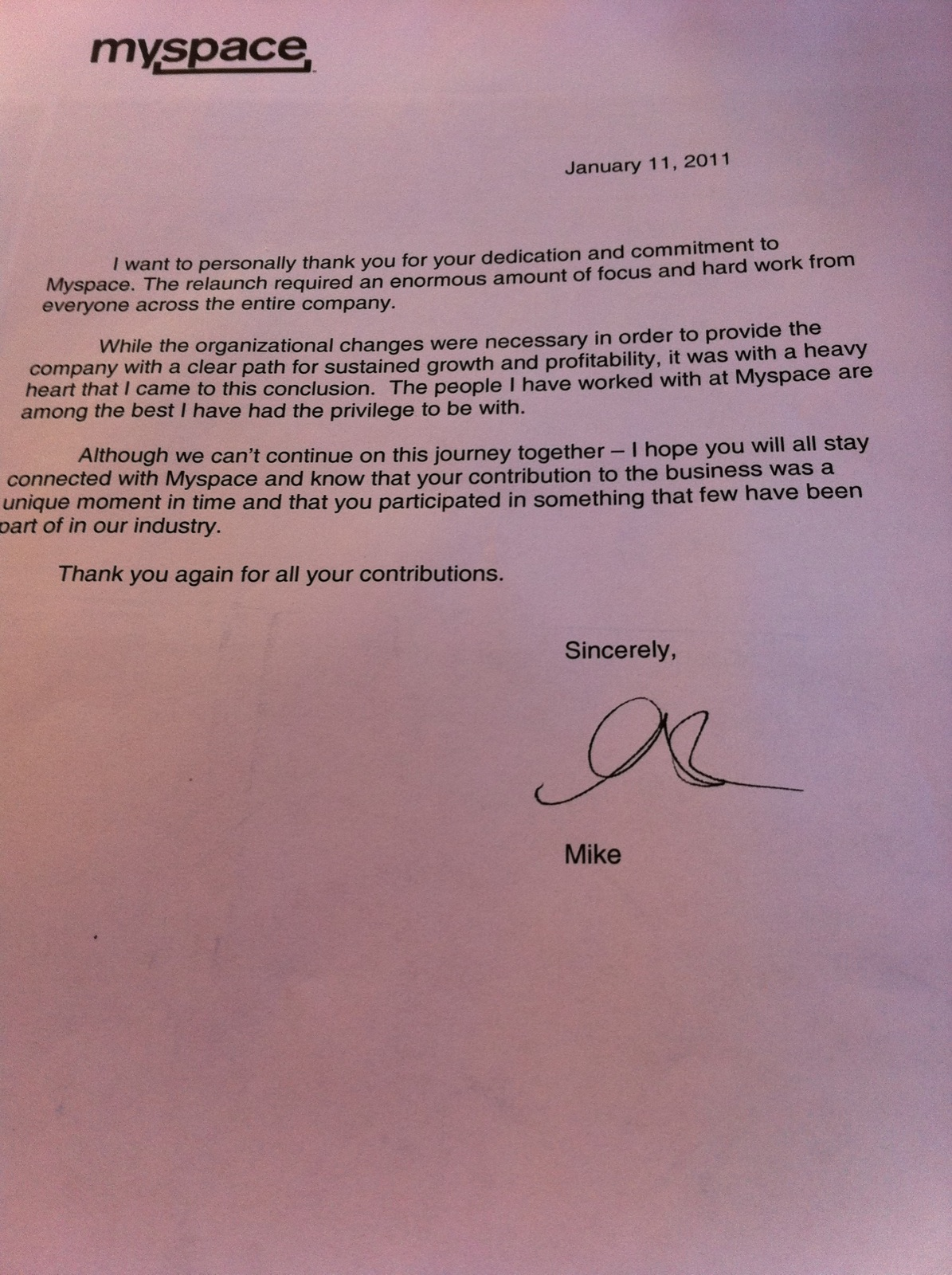 Laid Off Letter To Employee .