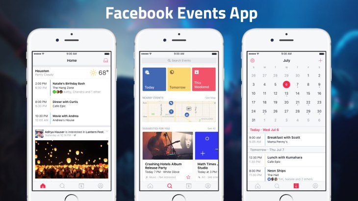 facebook launches standalone events