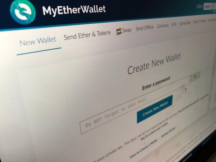 popular crypto service myetherwallet