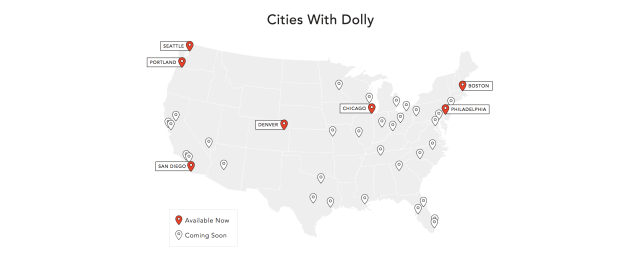 On-demand delivery and moving app Dolly hits  million in revenue and expands into SF and DC