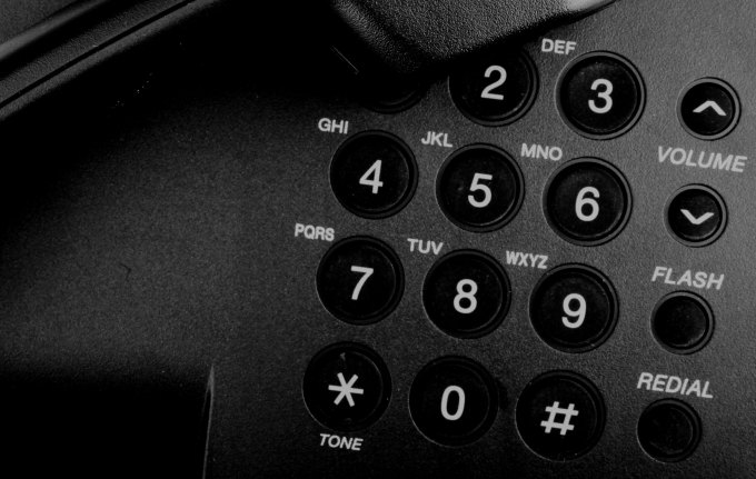 closeup of landline telephone