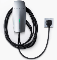 tesla unveils first home charging station that can be plugged into a wall outlet techcrunch [ 2648 x 2158 Pixel ]