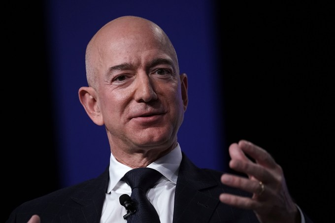 Amazon CEO And Blue Origin Founder Jeff Bezos Speaks At Air Force Affiliation Air, Space And Cyber Convention