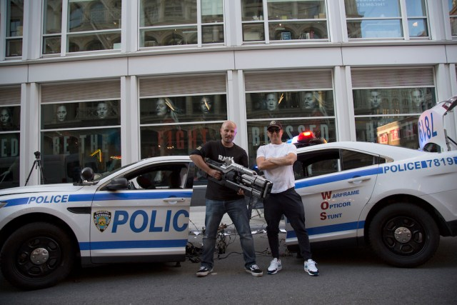 Director Michael Krivicka, Producer Chris Yoon {focus_keyword} Warframe promotional stunt brings a video game gun to the real streets of New York Director Producer